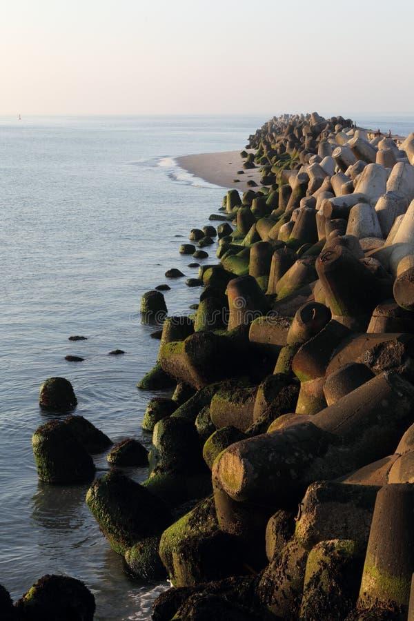 Download Breakwater stock photo. Image of blue, coast, ocean, landscape - 21500676