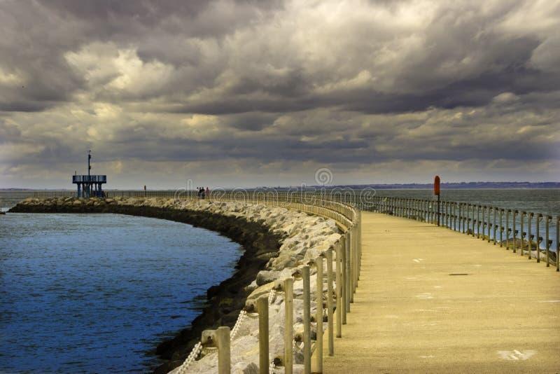 Download Breakwater stock image. Image of breakwater, rocks, clouds - 3019157