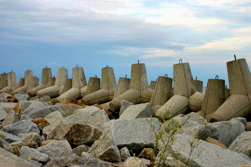 Breakwater royalty free stock images