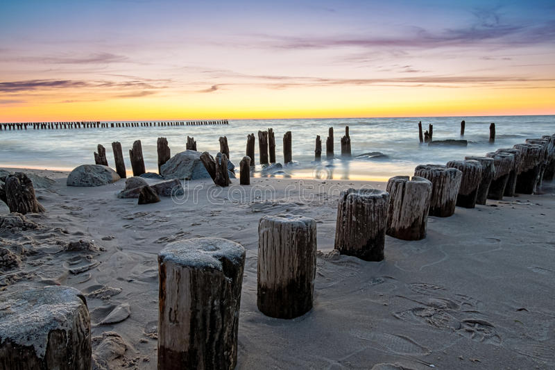 Download Breakwater HDR stock photo. Image of scene, long, view - 30902978