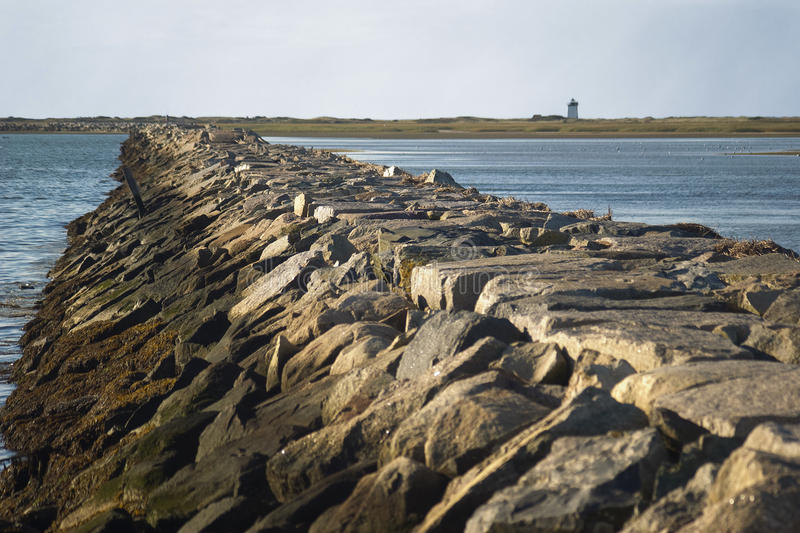 Download Breakwater in Provincetown stock image. Image of tide - 21718127