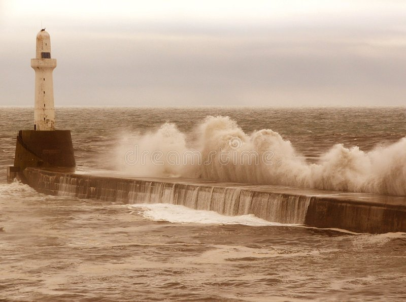 Breakwater Storm stock photos