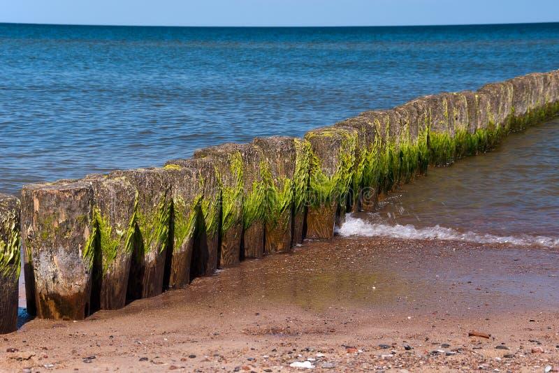 Breakwaters stock image