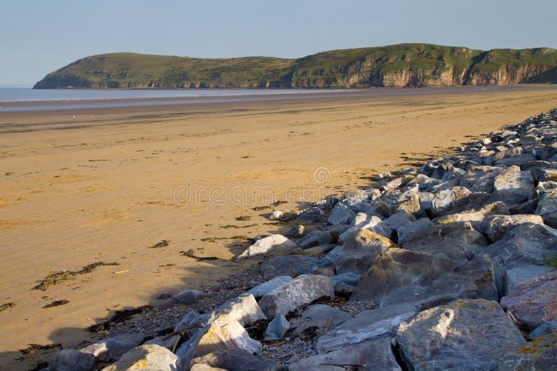 Brean Strand und Brean unten Somerset lizenzfreie stockbilder