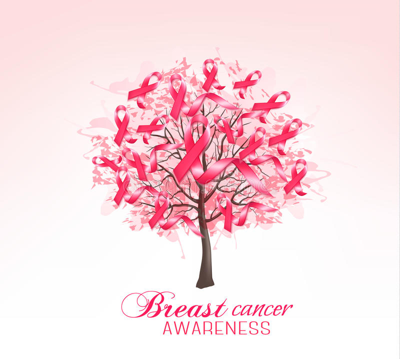 Breast cancer awareness background. stock illustration