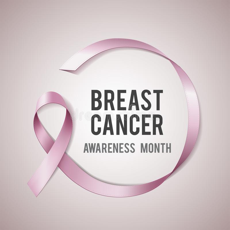 Breast cancer awareness concept royalty free illustration