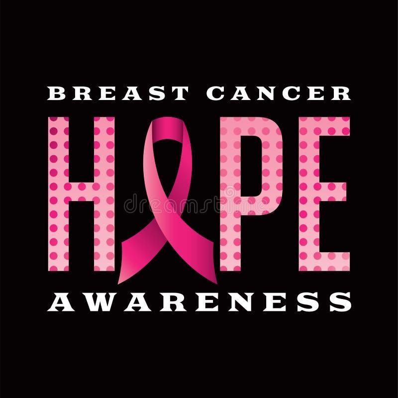 Breast Cancer Awareness Hope Message Illustration stock illustration