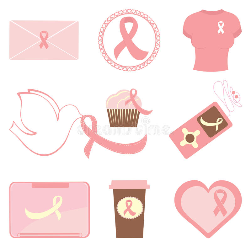 Download Breast Cancer Awareness Icons Stock Vector - Illustration: 27472201