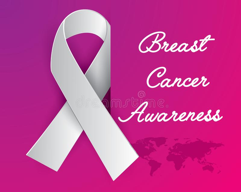 Breast cancer awareness iluatration vector. Breast cancer awareness illustration vector, breast cancer paper art illustration vector,ribbon illustration vector stock illustration