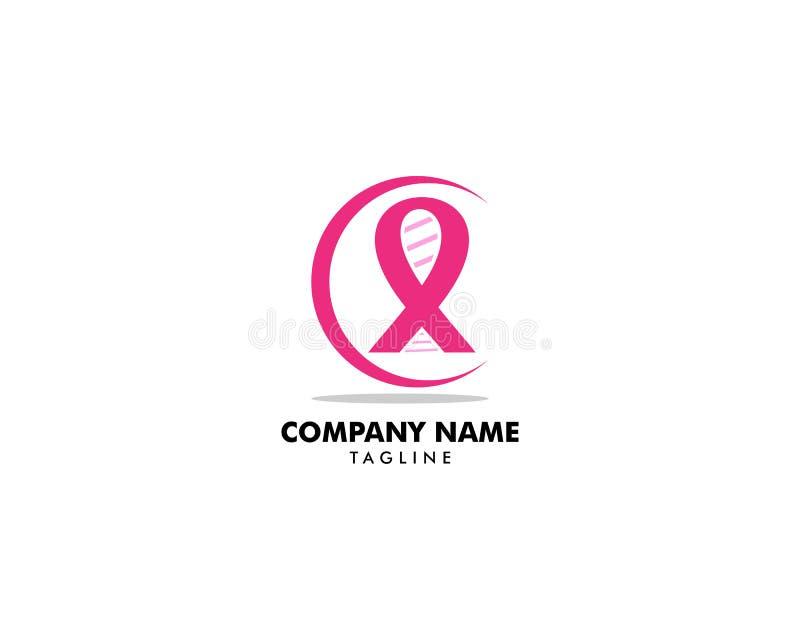 Breast cancer awareness logo design vector illustration