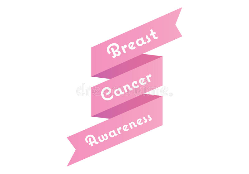 Breast cancer awareness message in pink royalty free illustration