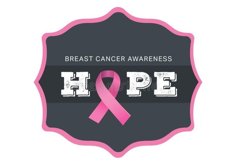 Breast cancer awareness message stock illustration