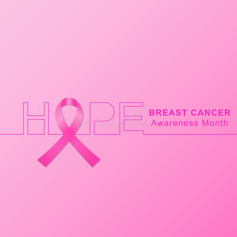 Breast cancer awareness month background with pink ribbon. Vector. Breast cancer awareness month background with pink ribbon. Vector EPS 10 vector illustration