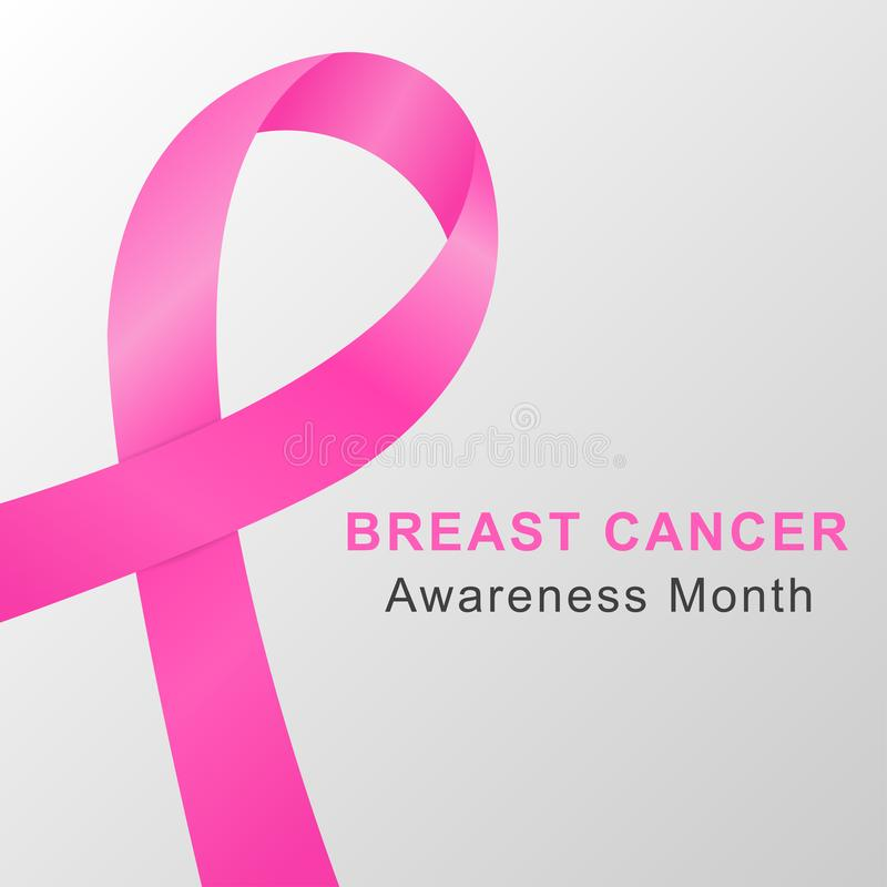 Breast cancer awareness month background with pink ribbon. Vector. Breast cancer awareness month background with pink ribbon. Vector EPS 10 stock illustration