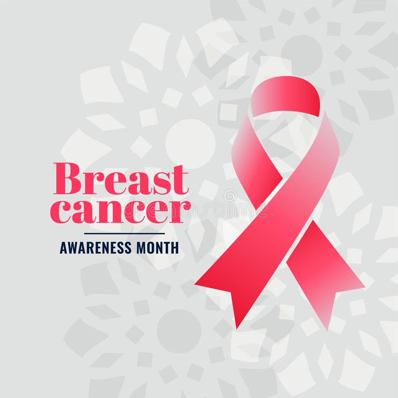 Breast cancer awareness month campaign poster design. Vector royalty free illustration