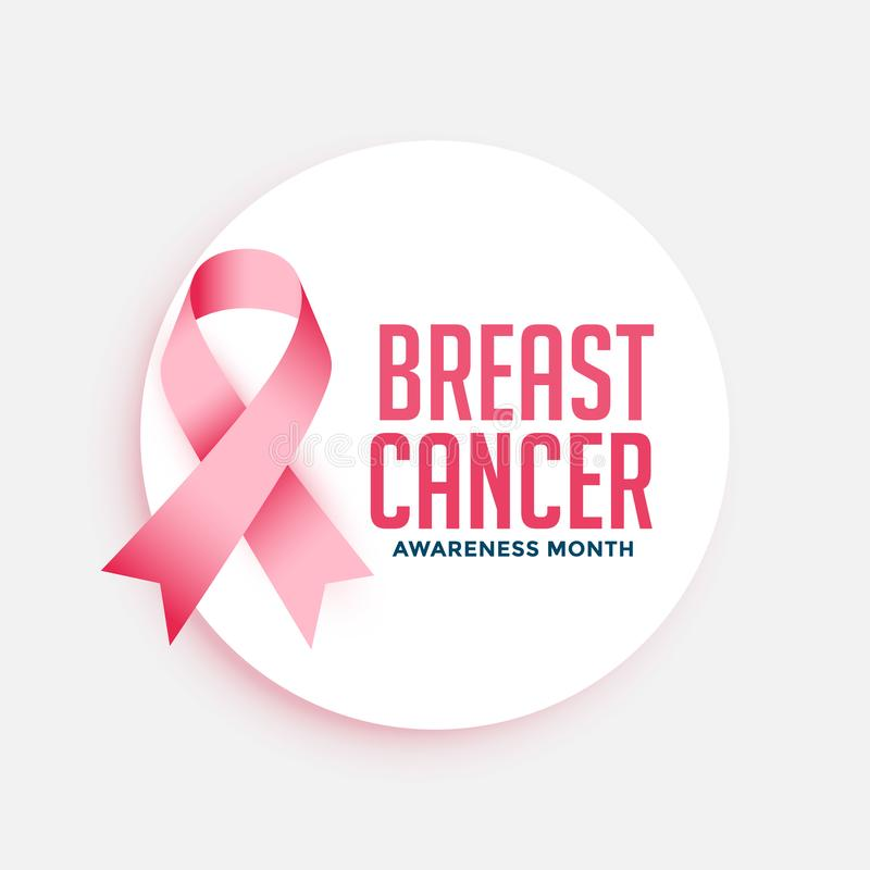Breast cancer awareness month campain poster design. Vector stock illustration