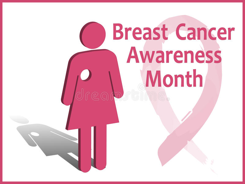 Breast cancer awareness month card stock illustration