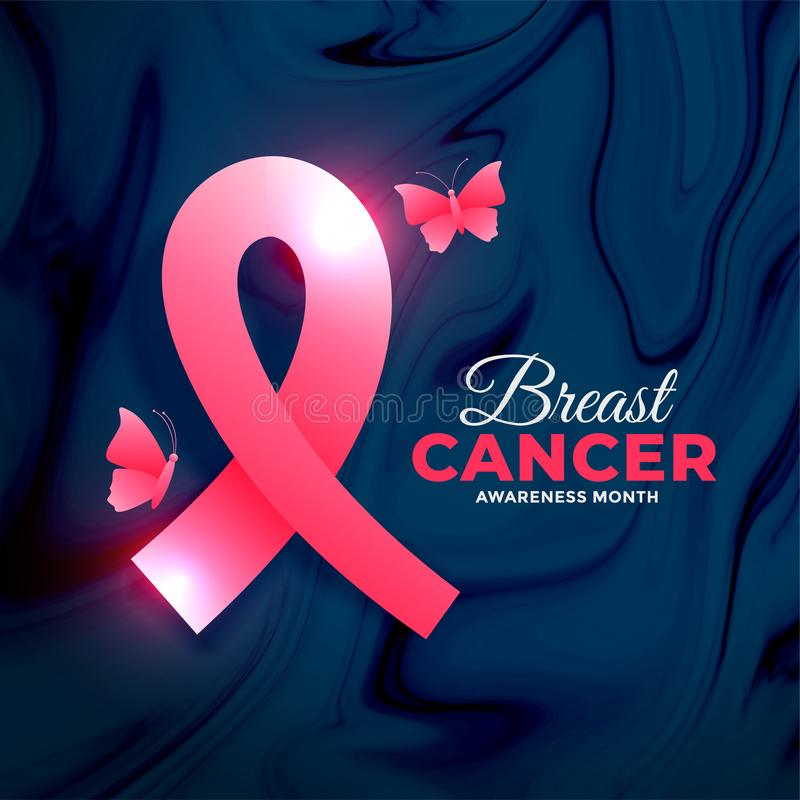 Breast cancer awareness month concept design with butterfly. Vector vector illustration