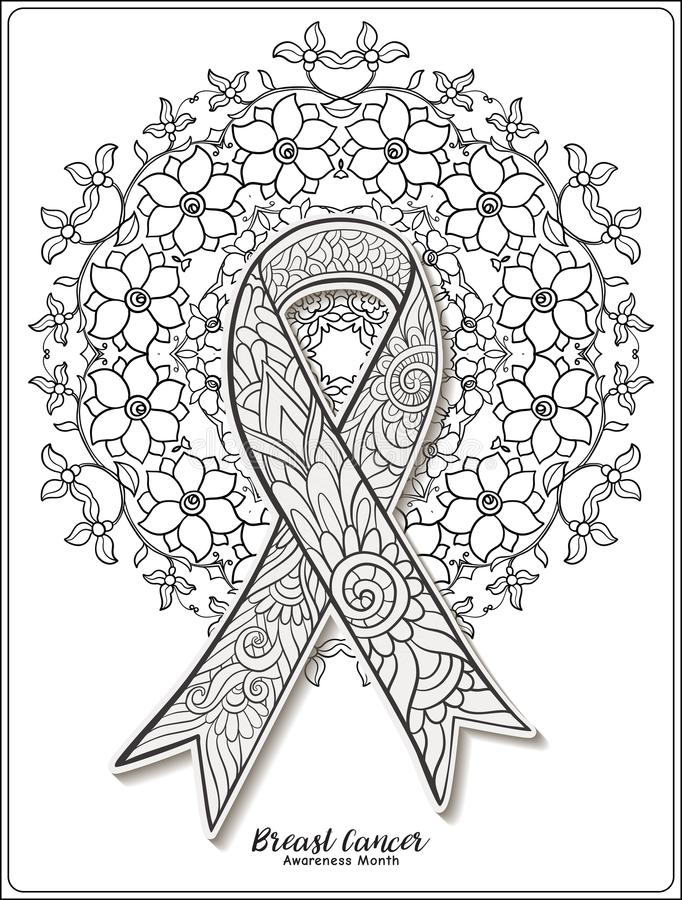 how to draw a cancer ribbon