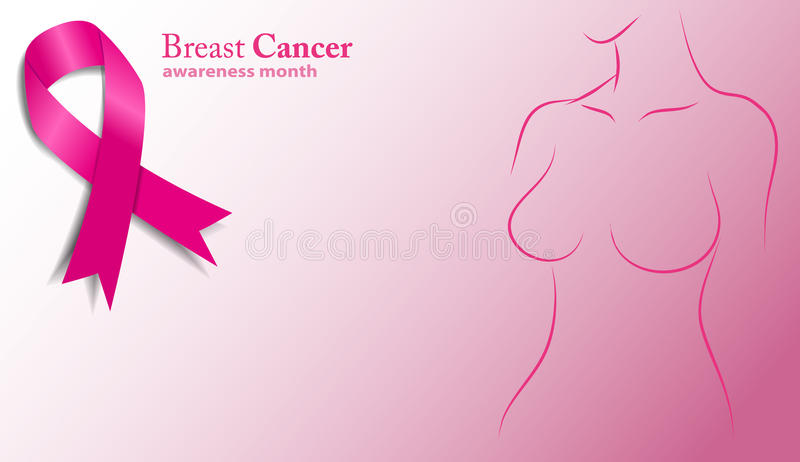 Breast cancer royalty free illustration