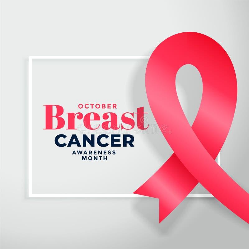 Breast cancer awareness month poster design background. Vector stock illustration