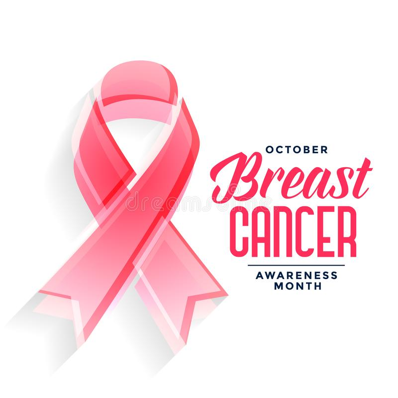 Breast cancer awareness month poster design concept. Vector vector illustration