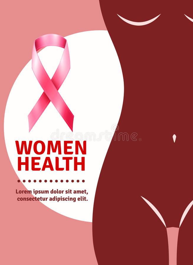 Breast Cancer Awareness Poster vector illustration