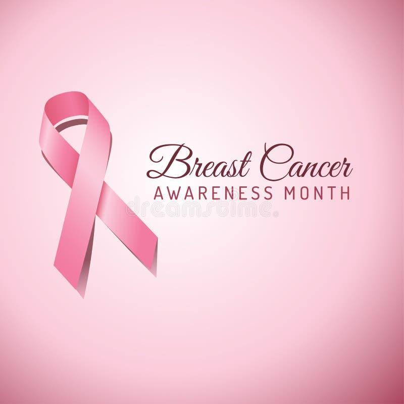 Breast Cancer Awareness Ribbon Background royalty free illustration