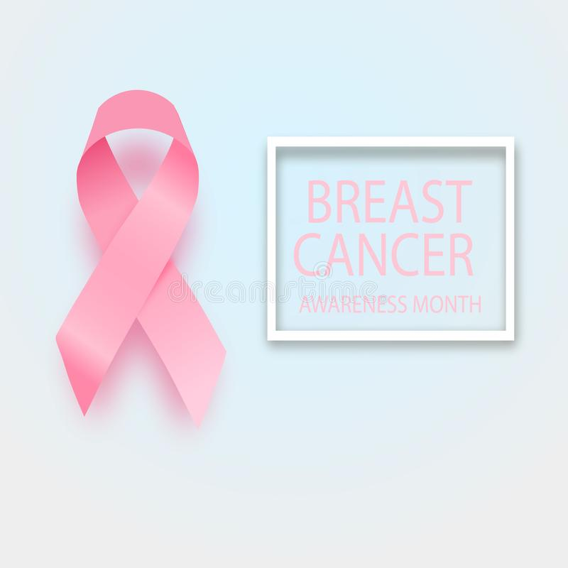 Breast Cancer Awareness Ribbon. Vector design and royalty free illustration