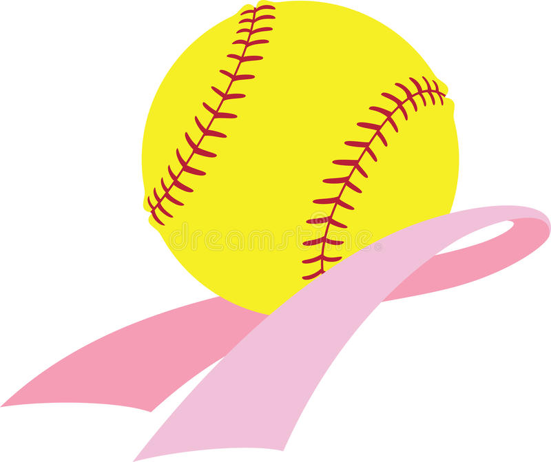 Download Breast Cancer Awareness Softball Stock Vector - Illustration of breast, cancer: 26611133