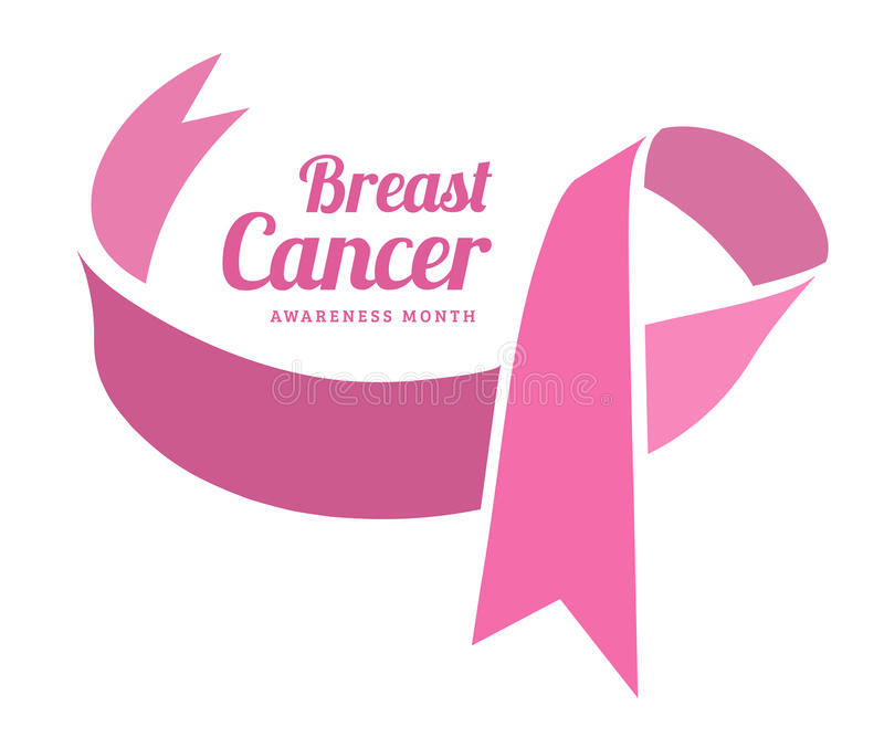 breast cancer awareness vector symbol stock vector illustration of rh dreamstime com vector breast cancer ribbon free breast cancer ribbon vector art free