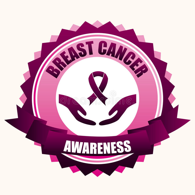 Breast cancer royalty free illustration