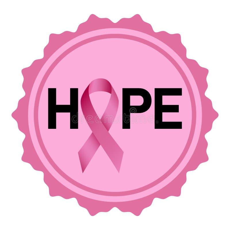 Breast cancer hope logo, realistic style royalty free illustration