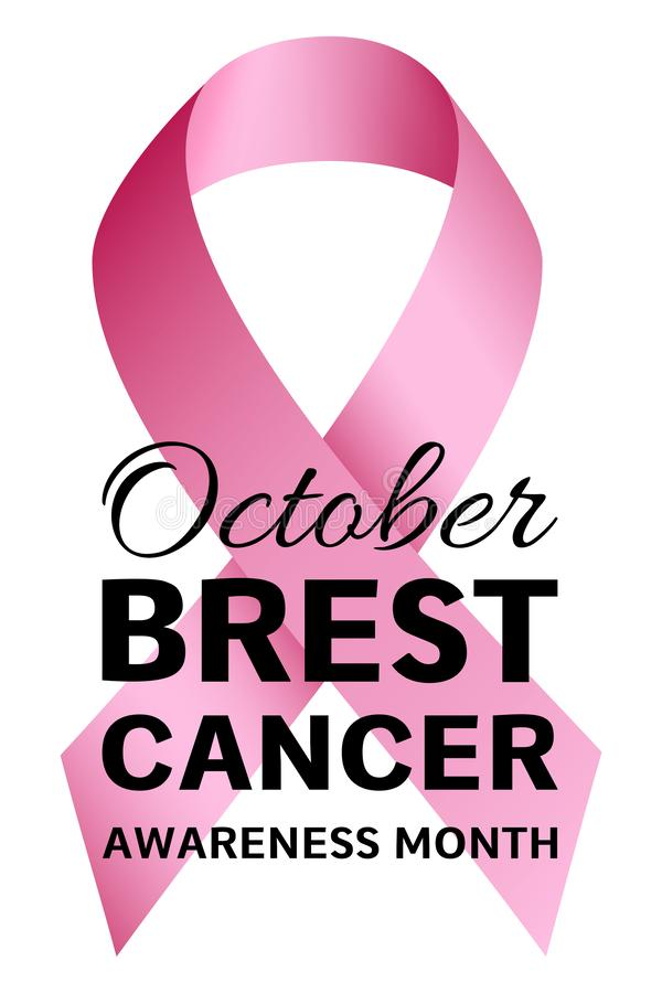 Breast cancer logo, realistic style vector illustration