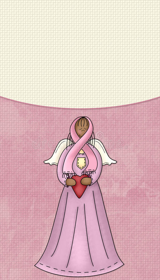 Breast Cancer Pink Ribbon Angel Background royalty free stock images