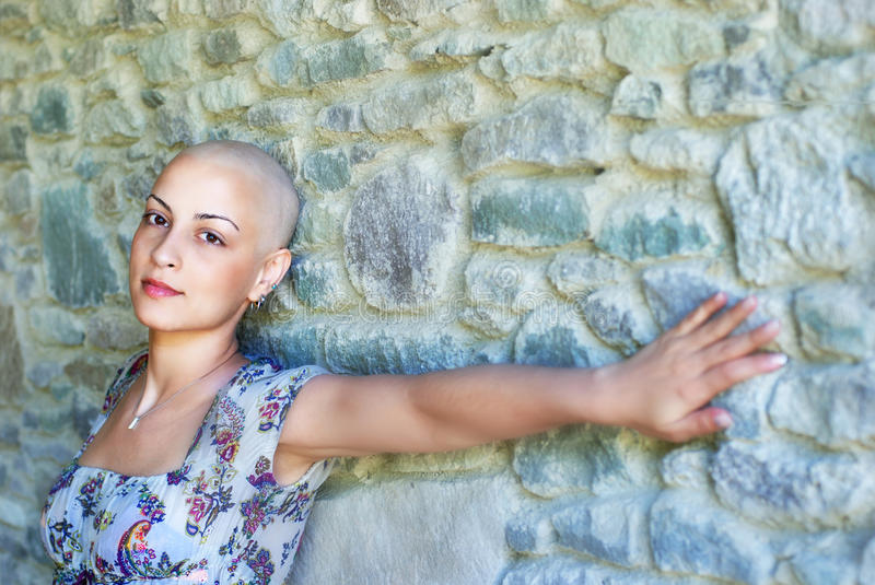Breast Cancer Survivor. With positive attitude royalty free stock images