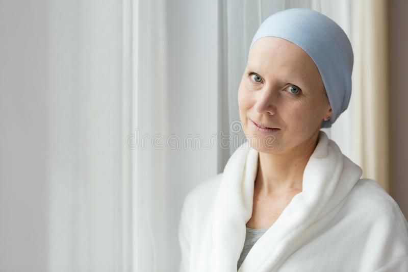 Breast cancer survivor stock photo