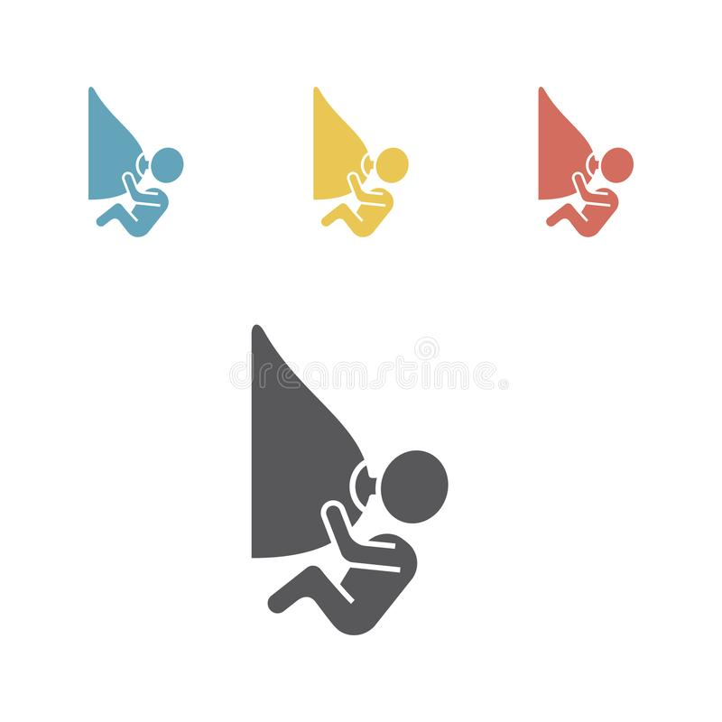 Breastfeed icons. Vector illustration. Breastfeed icons. Vector signs for web graphics royalty free illustration