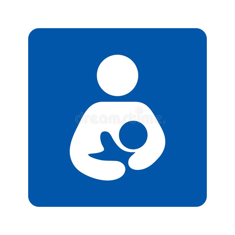 Breastfeeding sign pictogram illustration. With a white background royalty free illustration