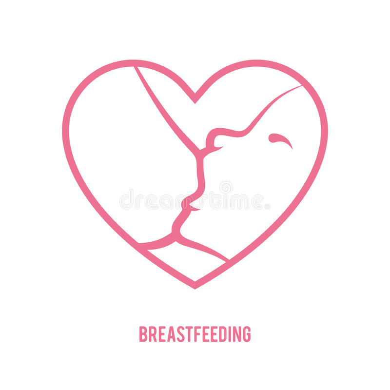 Breastfeeding znak ilustracji