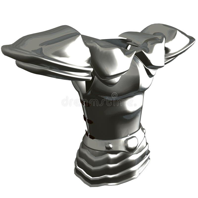 Breastplate van het titanium vector illustratie