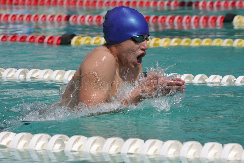 Download Breaststroke Male Swimmer Royalty Free Stock Photos - Image: 13391408
