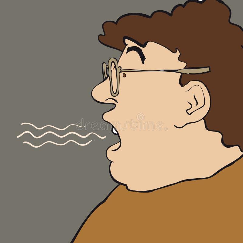 Breath man royalty free illustration