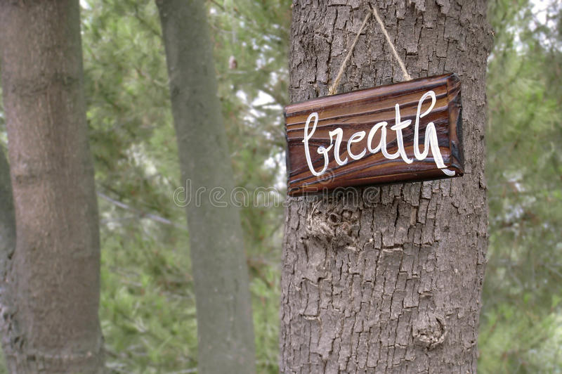 Breath Signboard Reminder royalty free stock photo