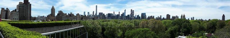 Breath taking New York City Skyline. Amazing panoramic New York City skyline and Central Park views stock images
