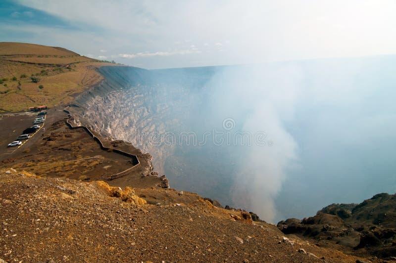 Breath of the volcano Masaya royalty free stock photo