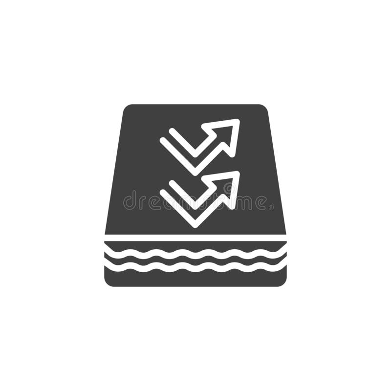 Breathable Mattress vector icon. Filled flat sign for mobile concept and web design. Orthopedic Mattress glyph icon. Symbol, logo illustration. Vector graphics royalty free illustration