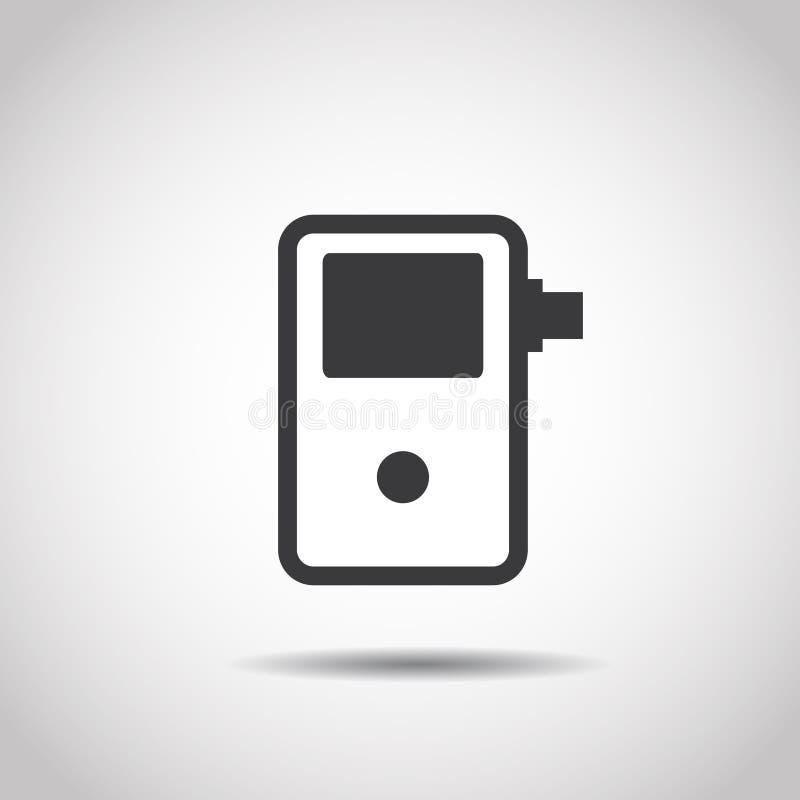Breathalyzer ikona ilustracji