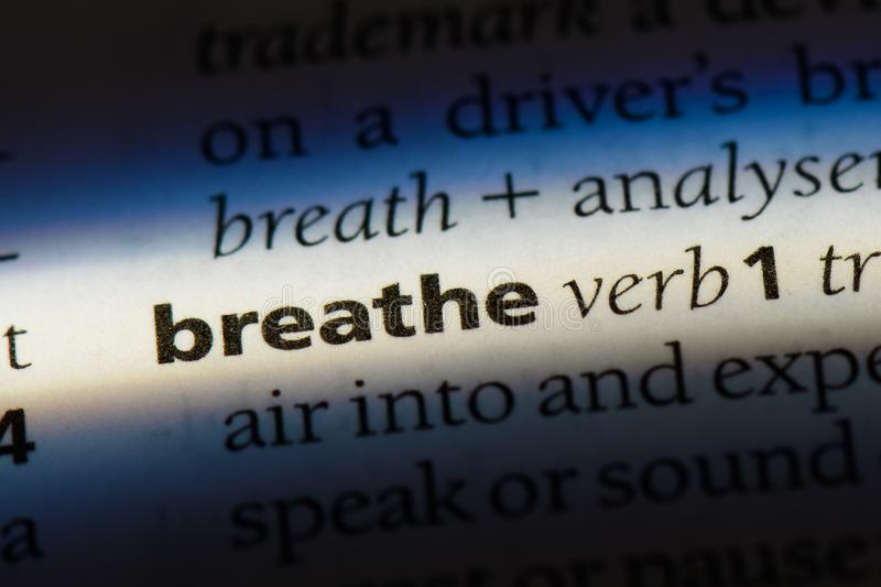 breathe stockbild