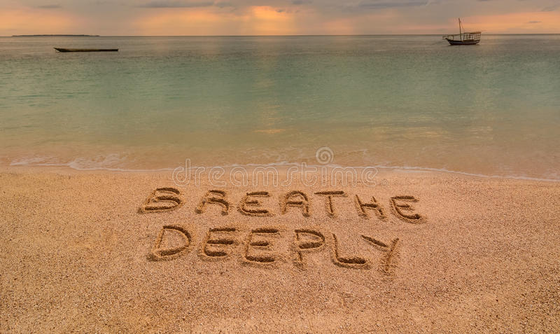 Breathe Deeply royalty free stock image